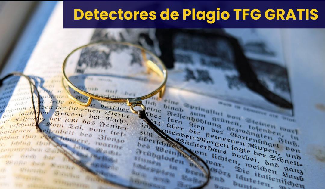 Detector de plagio TFG gratis
